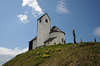 Hohe Salve - The western view of the Hohe Salve pilgrimage church