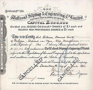 Wallsend Slipway & Engineering Company - Image: Wallsend Slipway & Engineering Company Ltd 1901