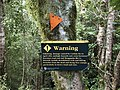 Wangapeka Track - Warning Damaged Track.jpg