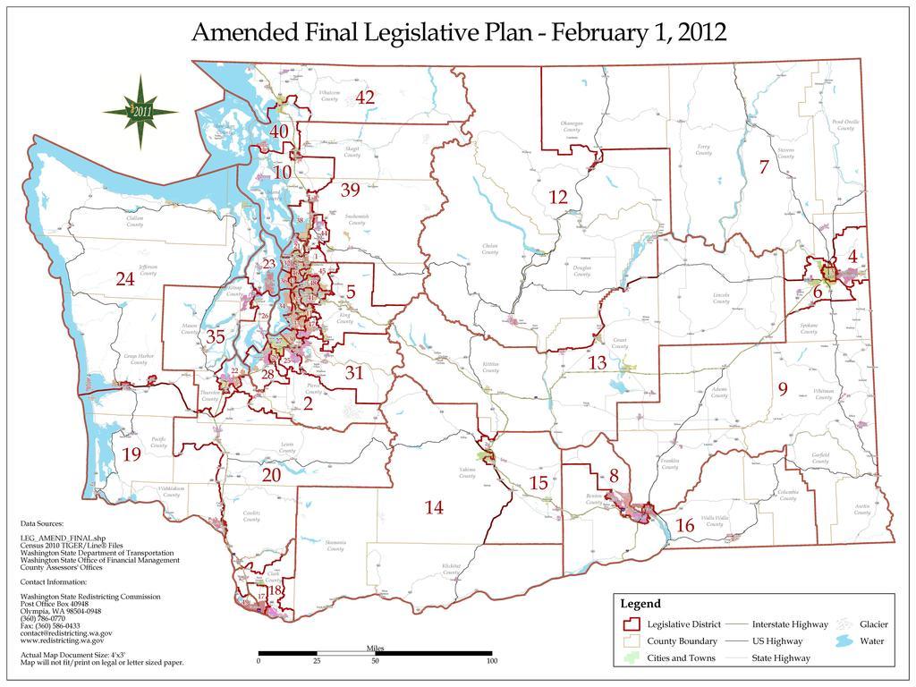 File Washington State Legislative Districts After Pdf Wikimedia