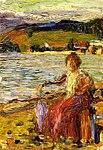 Wassily kandinsky-kochel - lady seated by a lakeside.jpg