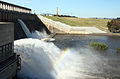 Water release at the dam wall into the Murray River in November 2010.jpg