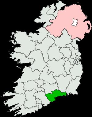 Waterford (Dáil Éireann constituency) - Image: Waterford (Dáil Éireann constituency)
