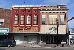 Wayne, Nebraska - Image: Wayne, Nebraska 201 203 N Main from W