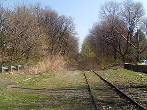 West Arlington (Erie Railroad station) - The site of the former West Arlington Station in 2010. The building burned down in 1976.