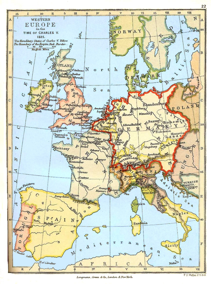 Western Europe in the Time of Charles V (1525)
