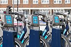 Westferry DLR station MMB 23 Barclays Cycle Hire.jpg