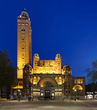 Westminster Cathedral - Image: Westminster Cathedral at Dusk, London, UK Diliff