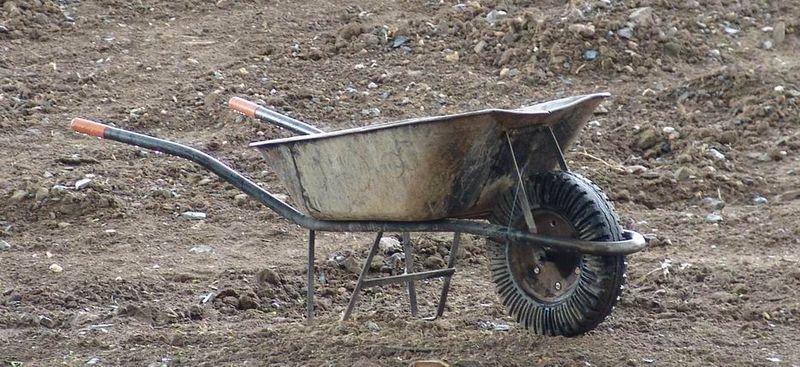 File:Wheelbarrow in the field.jpg