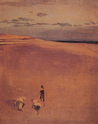Selsey - The beach at Selsey Bill by Whistler 1865.