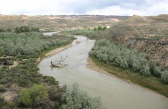 White River (Green River tributary) - The White River in Uintah County, Utah