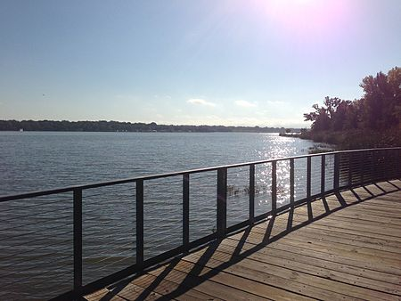 White Rock Lake, located on the south end of Lake Highlands White Rock Lake, Dallas Texas.jpg