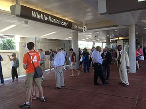 Wiehle–Reston East station - Image: Wiehle Reston Metro platform 2