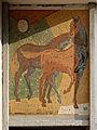 Wien-Penzing - Gemeindebau Mitisgasse 36-38 - Mosaik Zwei Pferde - Heribert Potuznik 1960-61.jpg