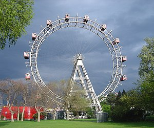 Tourist attractions in Vienna - The Wiener Riesenrad. In 2009 it took over the third place in the ranking from the Albertina.