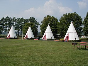 Cave City, Kentucky - The Wigwam Village Motel, built in 1937, is one of Cave City's unique attractions and located on the Historic National Register.  It was the 3rd of 7 Wigwam Villages constructed across America, and one of only 3 now in existence.