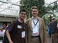 Wikimania 2014 - 02 Matthew and Deryck.JPG