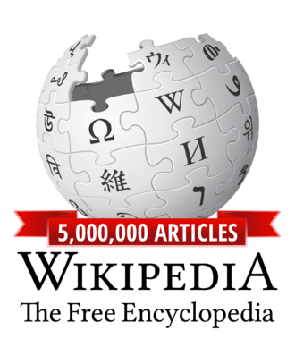 English Wikipedia - Image: Wikipedia logo v 2 en 5m articles