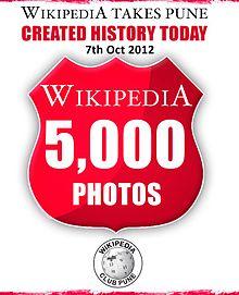 Wikipedia Club Pune 5000 Photos Record.jpg