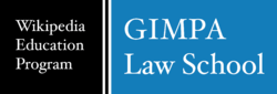 Wikipedia Education Program GIMPA Law School logo