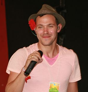 Will Young discography - Will Young during an interview at Glastonbury, 2008