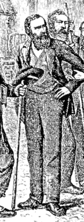 William Mathews (mountaineer) - William Mathews portrayed by Edward Whymper in Zermatt, 1864 (from the original edition of Scrambles Amongst the Alps by Edward Whymper)