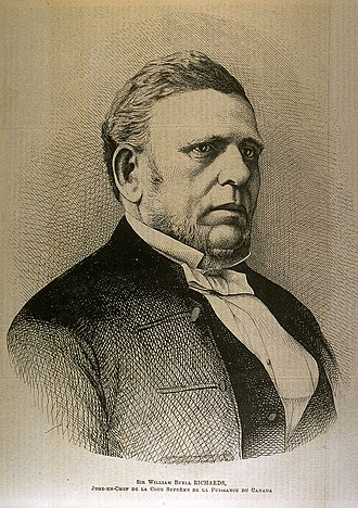 History of the Supreme Court of Canada - William Buell Richards, first Chief Justice of the Supreme Court of Canada