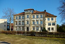 """The former """"parish orphanage"""" - part of today's boarding school with a student home (main building)"""