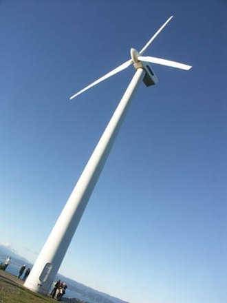 Electricity sector in New Zealand - The 255kW demonstration wind turbine installed at Brooklyn, Wellington