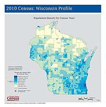 Wisconsin Wikipedia - Map of wisc