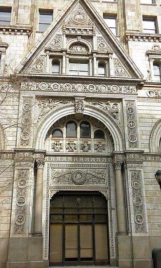Witherspoon Building - Witherspoon Building entrance, February 2010