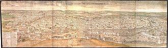 Jerez de la Frontera - Jerez in the 1560s, by Anton van den Wyngaerde.