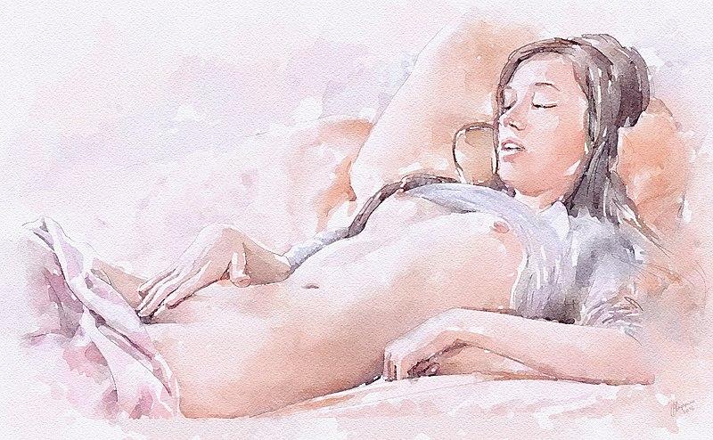 Beautiful girl in panties