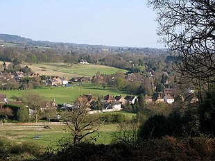 "Part of the village and <a href=""http://search.lycos.com/web/?_z=0&q=%22Surrey%20Hills%20AONB%22"">Surrey Hills</a> AONB"