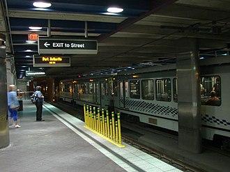 Wood Street station (PAAC) - Image: Wood Street Station platform