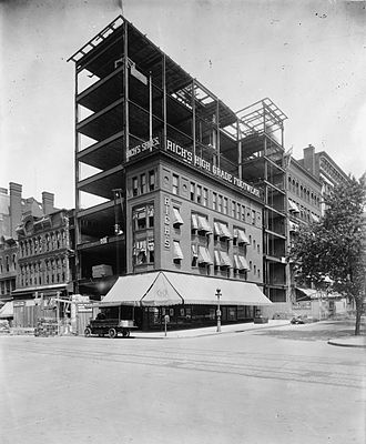 Woodward & Lothrop - Image: Woodward & Lothrop flagship store under construction
