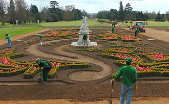 Conservation and restoration of historic gardens - Restoration work at Wrest Park.