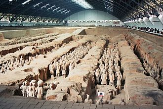 Xi'an - Terracotta Army inside the Qin Shi Huang Mausoleum, 3rd century BC.