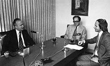 Spiegel-Interview mit Jitzchak Rabin, israelischer Premier, 1974.