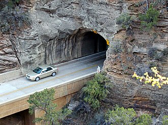 Zion – Mount Carmel Highway - East portal of the Zion Tunnel