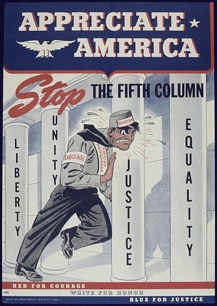 """File:""""Appreciate America Stop the Fifth Column"""" - NARA - 513873.jpg"""