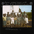 """Farm School Boys with Rev R.N. Dickson, Monetgo Bay, Jamaica"", early 20th century (imp-cswc-GB-237-CSWC47-LS12-019).jpg"