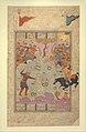 """Rustam Fighting Ashkabus"", Folio from a Shahnama (Book of Kings) MET DP215761.jpg"