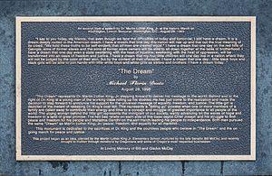 The Dream (sculpture) - Plaque