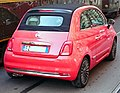 """ 15 - ITAlian red convertible - Fiat 500 C (2015) in Milan whit tram ATM (restaurant vehicle) (cropped).jpg"