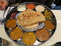 '3' A thali, traditional style of serving food in India, in a New York restaurant.jpg