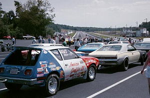 Dragstrip - Bring your own cars waiting to run down the dragstrip