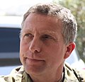 (Cropped without rank insignia) British Army Major General Nick Carter (Visit to Forward Operating Base Wilson 100921-A-KG159-146).jpg