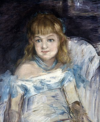Spencer Museum of Art - Image: Édouard Manet Little Girl in an Armchair