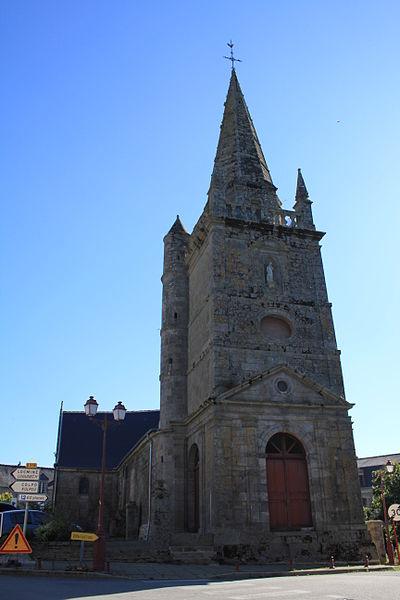 Église Sainte-Barbe (Moustoir-Ac): vue générale
